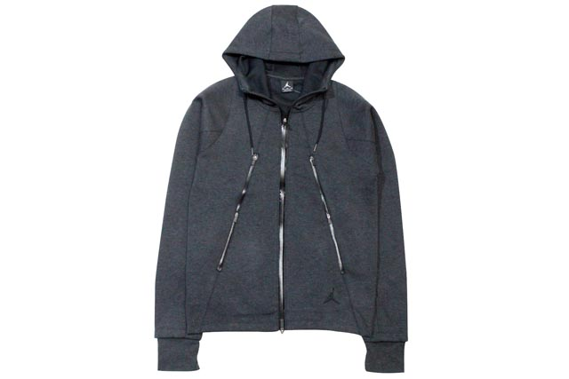 JORDAN BRAND FLEECE ZIP HOODIE (688990/032: CHARCOAL GREY)ジョーダンブランド/ZIPパーカー/グレー