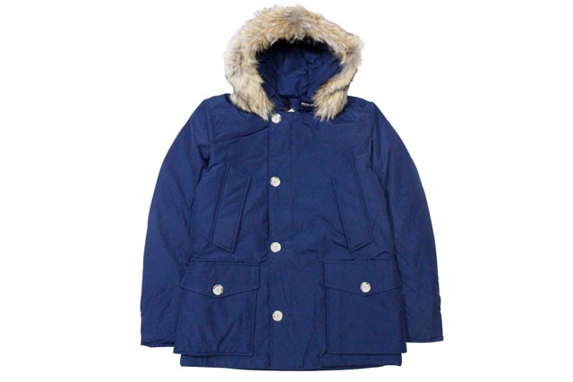 ●WOOLRICH JOHN RICH & BROS ARCTIC ANORAK JACKET (W02211: DARK ROYAL)ウールリッチ/フードダウンジャケット/青