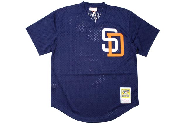 MITCHELL&NESS AUTHENTIC MESH BP JERSEY (SAN DIEGO PADRES 1996/TONY GWYNN/No.19: NAVY)ミッチェル&ネス/メッシュベースボールジャージ/紺