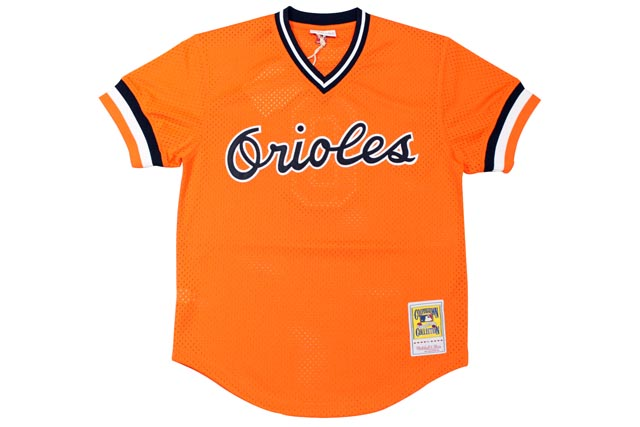 MITCHELL&NESS AUTHENTIC MESH BP JERSEY (BALTIMORE ORIOLES 1988/CAL RIPKEN/No.8: ORANGE)ミッチェル&ネス/メッシュベースボールジャージ/オレンジ