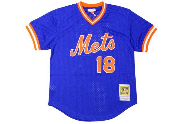 MITCHELL&NESS AUTHENTIC MESH BP JERSEY (NEW YORK METS 1986/DARRYL STRAWBERRY/No.18: BLUE)ミッチェル&ネス/メッシュベースボールジャージ/青