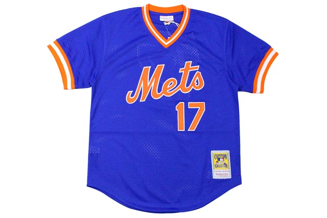 MITCHELL&NESS AUTHENTIC MESH BP JERSEY (NEW YORK METS 1986/KEITH HERNANDEZ/No.17: BLUE)ミッチェル&ネス/メッシュベースボールジャージ/青