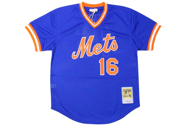 MITCHELL&NESS AUTHENTIC MESH BP JERSEY (NEW YORK METS 1987/DWIGHT GOODEN/No.16: BLUE)ミッチェル&ネス/メッシュベースボールジャージ/青