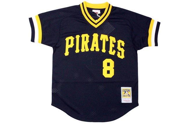 MITCHELL&NESS AUTHENTIC MESH BP JERSEY (PITTSBURGH PIRATES 1982/WILLIE STARGEL/No.8: BLACK)ミッチェル&ネス/メッシュベースボールジャージ/黒