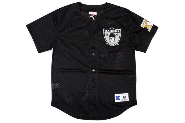 oakland raiders baseball style jersey