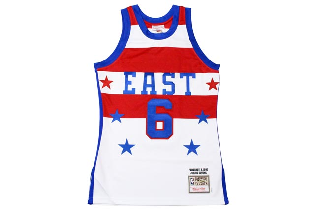 MITCHELL&NESS GAME JERSEY (1980 AUTHENTIC NBA ALL-STAR GAME/JULIUS ERVING: WHITE)ミッチェル&ネス/スローバックバスケットゲームジャージ/白
