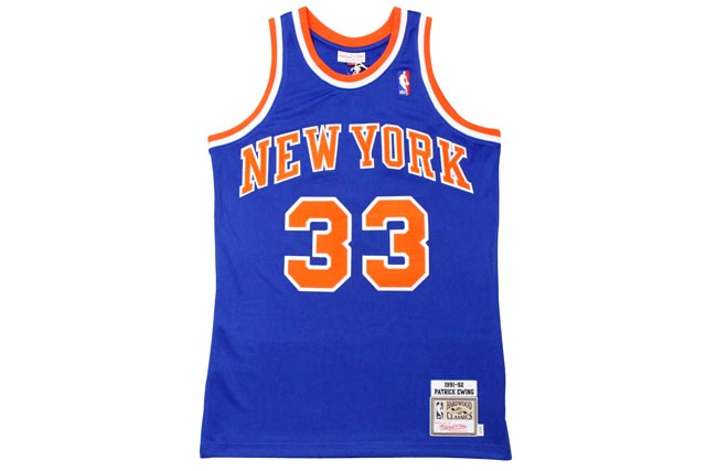 MITCHELL&NESS AUTHENTIC THROWBACK JERSEY (NEW YORK KNICKS 1991-92/PATRICK EWING: BLUE)ミッチェル&ネス/スローバックバスケットゲームジャージ/青