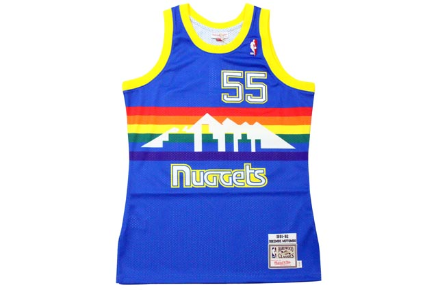 MITCHELL&NESS AUTHENTIC THROWBACK JERSEY (DENVER NUGGETS 1991-92/DILEMBE MUTOMBO: BLUE)ミッチェル&ネス/スローバックバスケットゲームジャージ/青