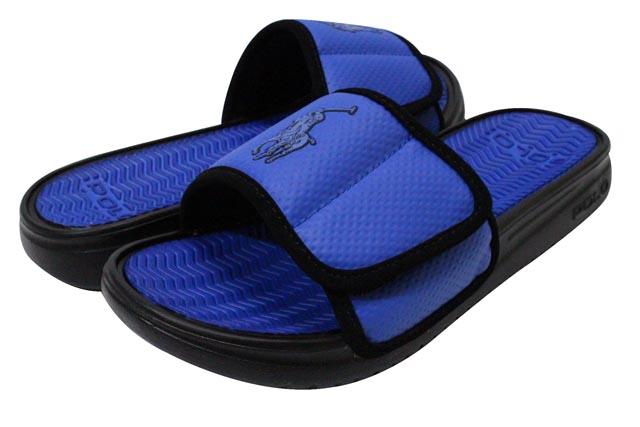 802c6abd381 Polo Ralph Lauren   shower sandals and blue POLO RALPH LAUREN ROMSEY SLIDE  SANDAL (ROYAL BLACK)