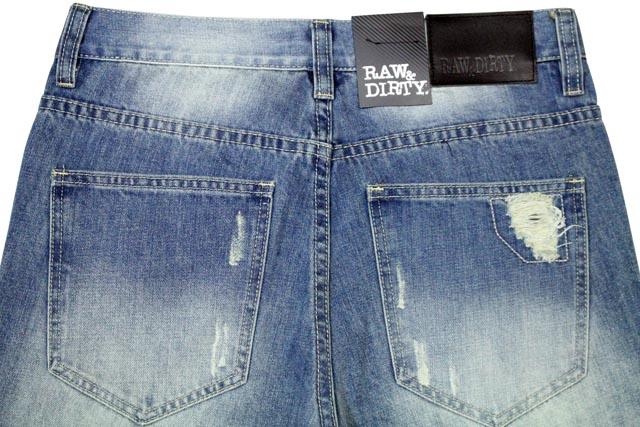 ●RAW & DIRTY BANDANA BACKED SLIM-FIT DENIM PANTS (002061: LAZY BOY WASH)ローアンドダーティー/デニムパンツ