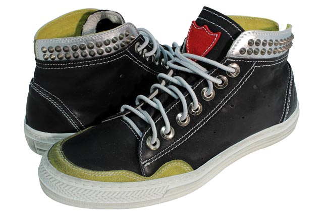 HTC (Hollywood Trading Company) JOURNEY SNEAKER METAL HIGH (13SHTSC051: BLACK/SILVER)エイチティーシー/スニーカー