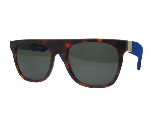 SUPER SUNGLASS (900/FLAT TOP/Blue Suede Matte)スーパー/サングラス