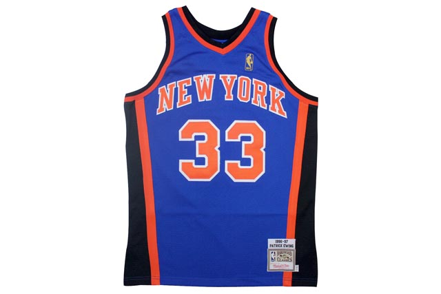 MITCHELL&NESS AUTHENTIC THROWBACK JERSEYS (New York Knicks 1996-1997/Patrick Ewing: Blue)ミッチェル&ネス/スローバックジャージー/青