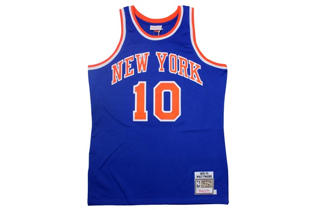 MITCHELL&NESS AUTHENTIC THROWBACK JERSEYS (New York Knicks 1972-1973/Walt Frazier: Blue)ミッチェル&ネス/スローバックジャージー/青