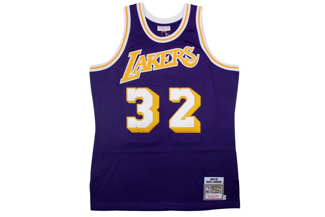 MITCHELL&NESS AUTHENTIC THROWBACK JERSEYS (Los Angeles Lakers 1984-1985/Magic Johnson: Purple)ミッチェル&ネス/スローバックジャージー/紫