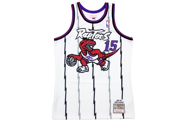 MITCHELL&NESS AUTHENTIC THROWBACK JERSEYS (Toronto Raptors 1998-1999/Vince Carter: White)ミッチェル&ネス/スローバックジャージー/白