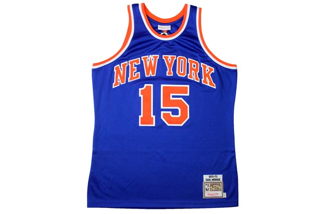 MITCHELL&NESS AUTHENTIC THROWBACK JERSEY (New York Knicks 1972-73/Earl Monroe: Blue)ミッチェル&ネス/スローバックジャージー/青