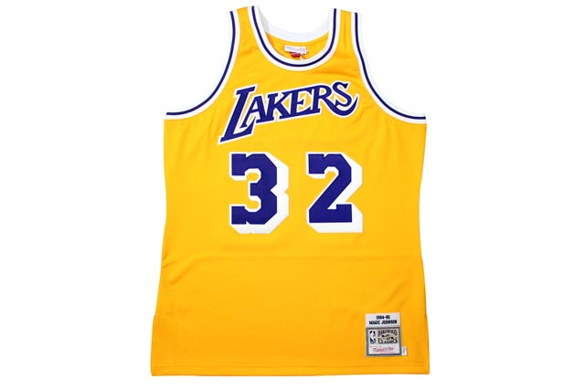 MITCHELL&NESS AUTHENTIC THROWBACK JERSEY (Los Angeles Lakers 1984-85/Magic Johnson: Yellow)ミッチェル&ネス/スローバックジャージー/黄色