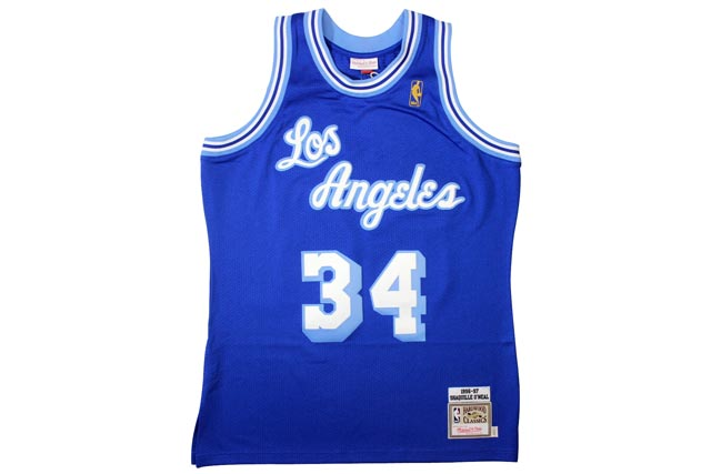 official photos 0920d a9ead Los Angeles Lakers 1996-97 (Shaquille O ' Neal: Blue) MITCHELL NESS  AUTHENTIC THROWBACK JERSEY Mitchell & ness and Throwback Jersey / blue