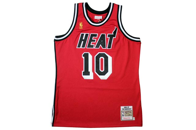 fdc9d10f0af ... usa miami heat 1996 97 tim hardaway red mitchell ness authentic  throwback jersey mitchell ness and