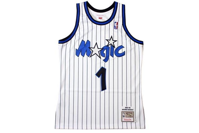 23501296cc4 (Orlando Magic 1993-94 and Penny Hardaway  White) MITCHELL NESS AUTHENTIC  THROWBACK JERSEY Mitchell   ness and Throwback Jersey   white