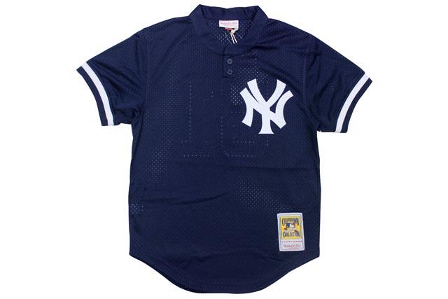 MITCHELL&NESS AUTHENTIC MESH BP JERSEY (Bernie Williams/No.51/New York Yankees 1995: Navy)ミッチェル&ネス/(ヘンリーネック)ベースボールジャージ/紺