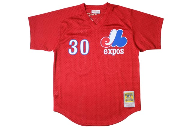 MITCHELL&NESS AUTHENTIC MESH BP JERSEY (Jim Raines/No.30/Montreal Expos 1989: Red)ミッチェル&ネス/ベースボールジャージ/赤