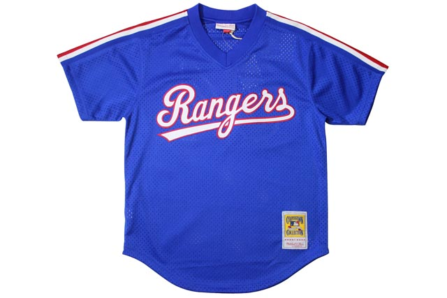 MITCHELL&NESS AUTHENTIC MESH BP JERSEY (Nalan Ryan/No.34/Texas Rangers 1989: Blue)ミッチェル&ネス/ベースボールジャージ/青