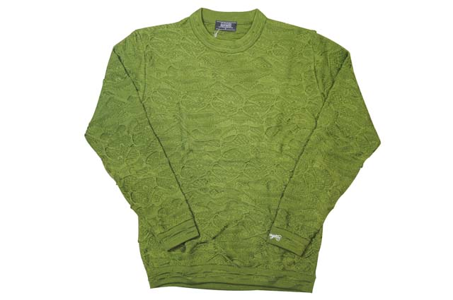 COOGI SOLID COLOR CREW SWEATER (GREEN)クージー/クルーネックセーター/緑