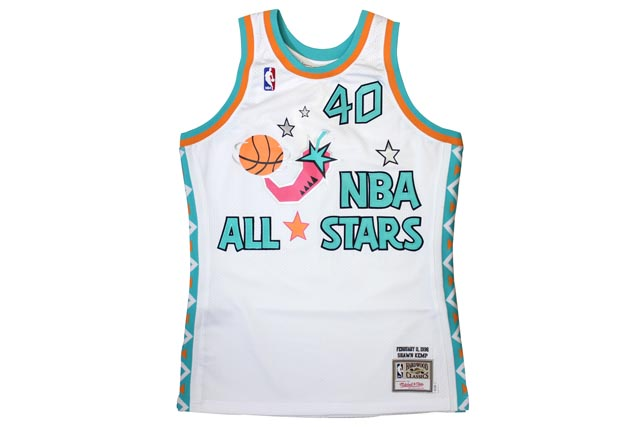 PACKER SHOES×MITCHELL&NESS ALL-STAR GAME JERSEY (1996/SHAWN KEMP EDITION: White)ミッチェル&ネス/スローバックジャージー/白