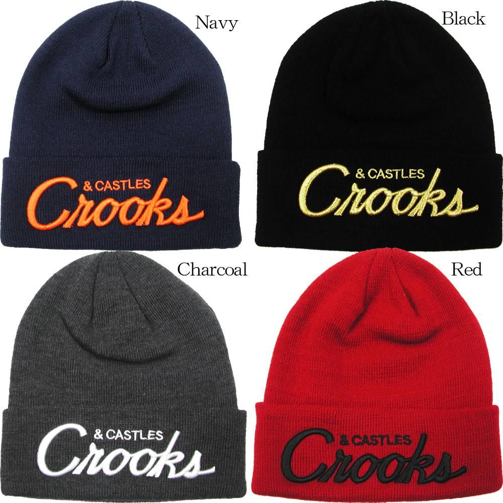 日本正規輸入代理店品 CrooksCastles クルックス キャッスルズ Team 海外限定 Crooks 誕生日プレゼント Cap ビーニーキャップ Beanie