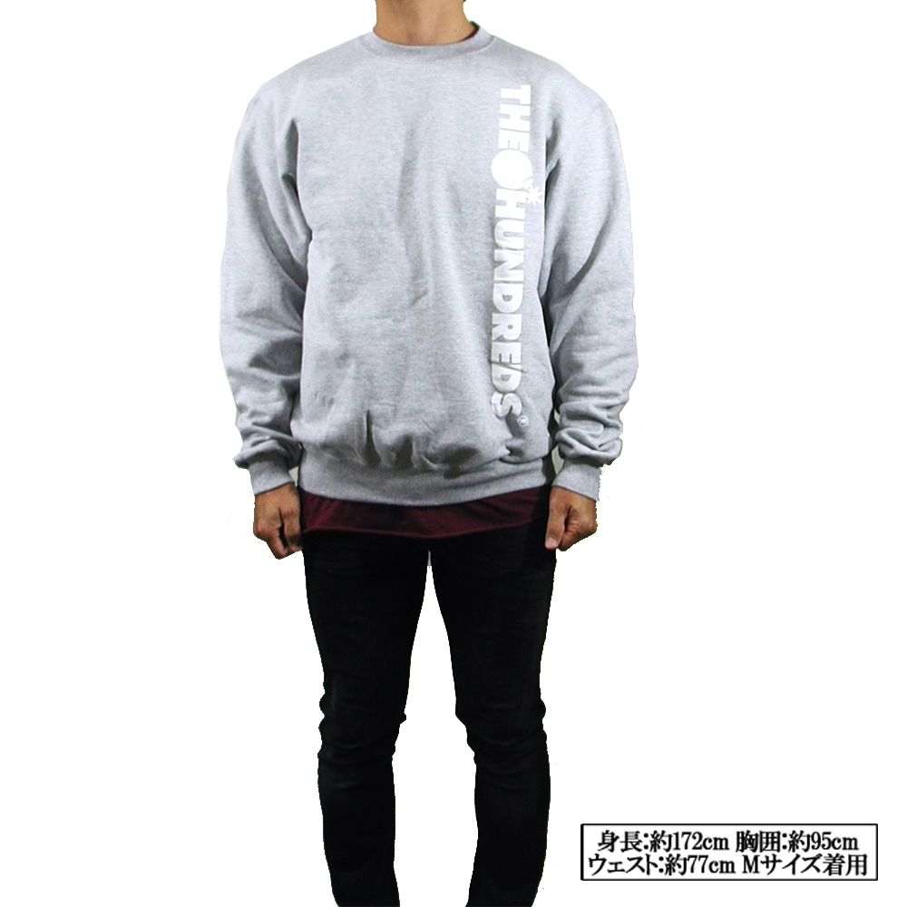 8c02e4ff7bbd5 THE HUNDREDS(ハンドレッツ) BAR NONE CREWNECK CHAMPION Sweat Shirt(チャンピオン・スウェットシャツ)