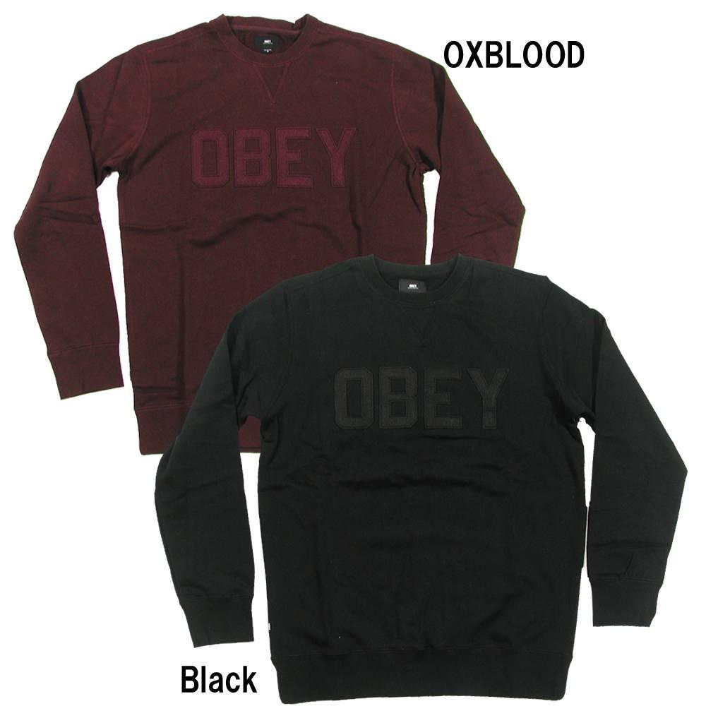OBEY(オベイ) NORTH POINT CREW SPECIALTY FLEECE Sweat Shirt (スウェットシャツ トレーナー)