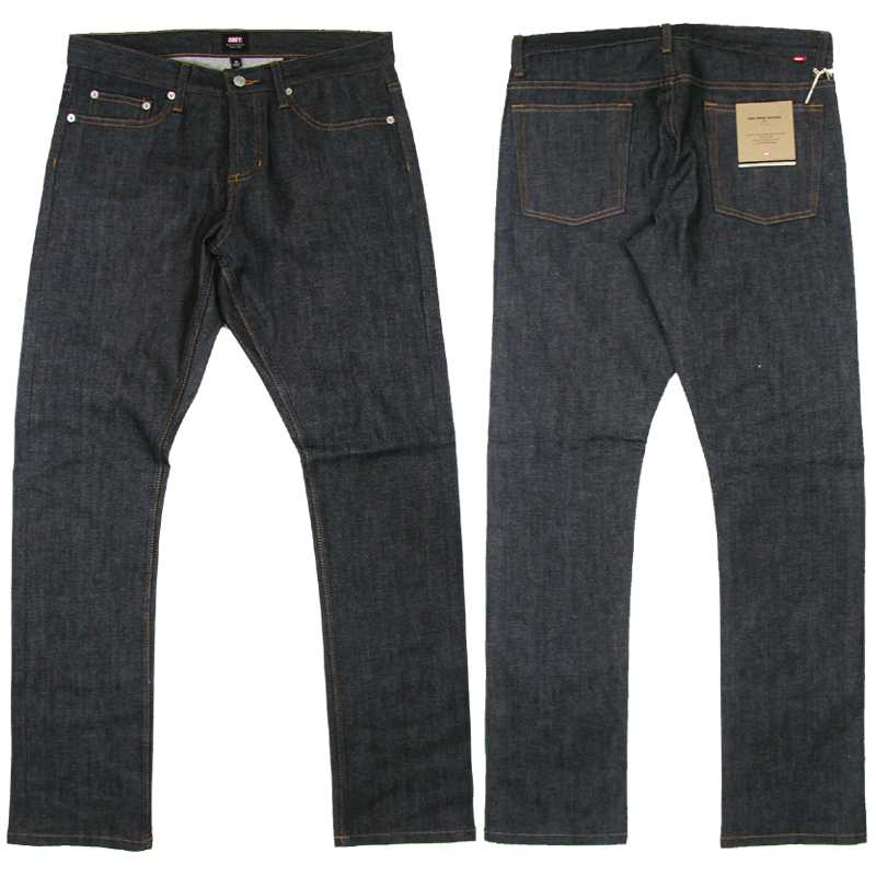 OBEY(オベイ) SELVEDGE NEW THREAT SLIM FIT Denim Pants (セルヴィッジ・スリム・デニムパンツ)