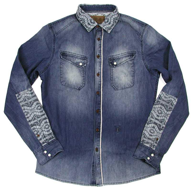 Pearly King(パーリーキング) NATIVE Denim L/S Shirt (デニム・長袖シャツ)