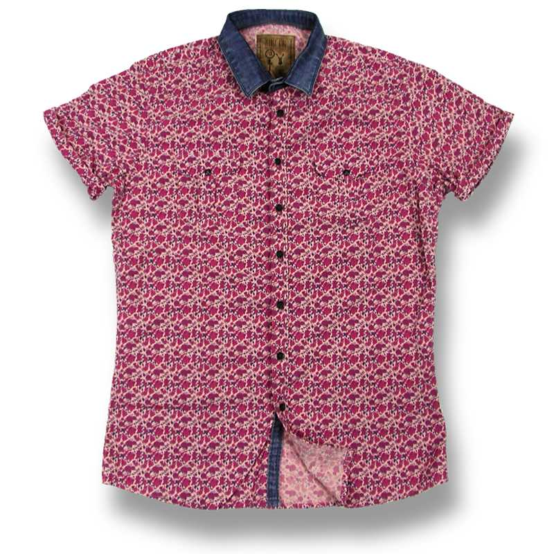Pearly King(パーリーキング) Dismay Pink Floral S/S Shirt(半袖シャツ)