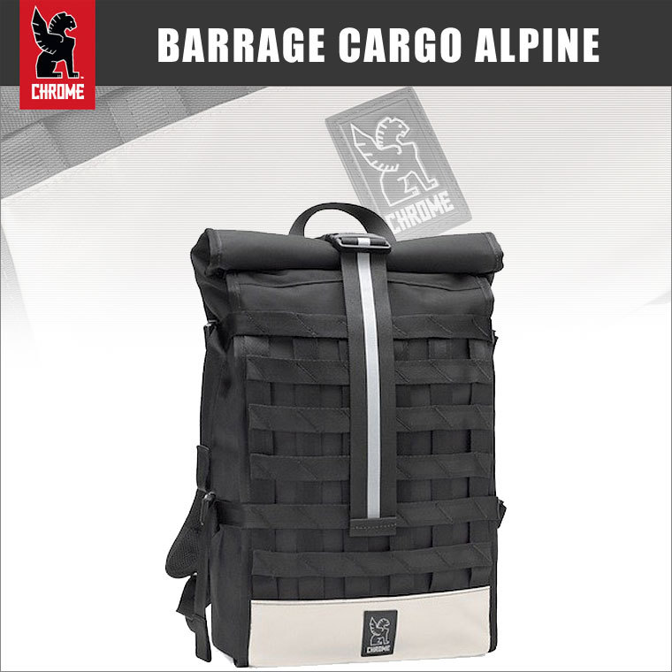 BARRAGE CARGO GRAPHITE ALPINE バラージカーゴ CHROME クローム バックパック バッグ ピスト 自転車 サイクリング 送料無料