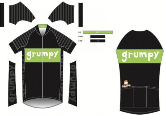 (お買い物マラソン)grumpy グランピー オリジナルプロフィットサイクルジャージ 自転車 サイクリング 送料無料