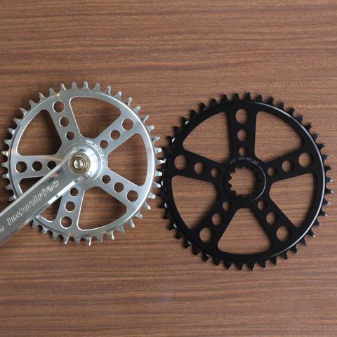 Square Taper Drivetrain ENO TSR チェーンリング Black 44,46,48T ホワイトインダストリーズ White industries