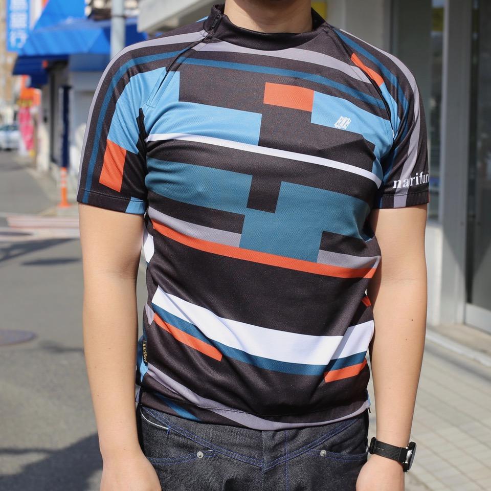 narifuri サイクルジャージスプリット geometric pattern