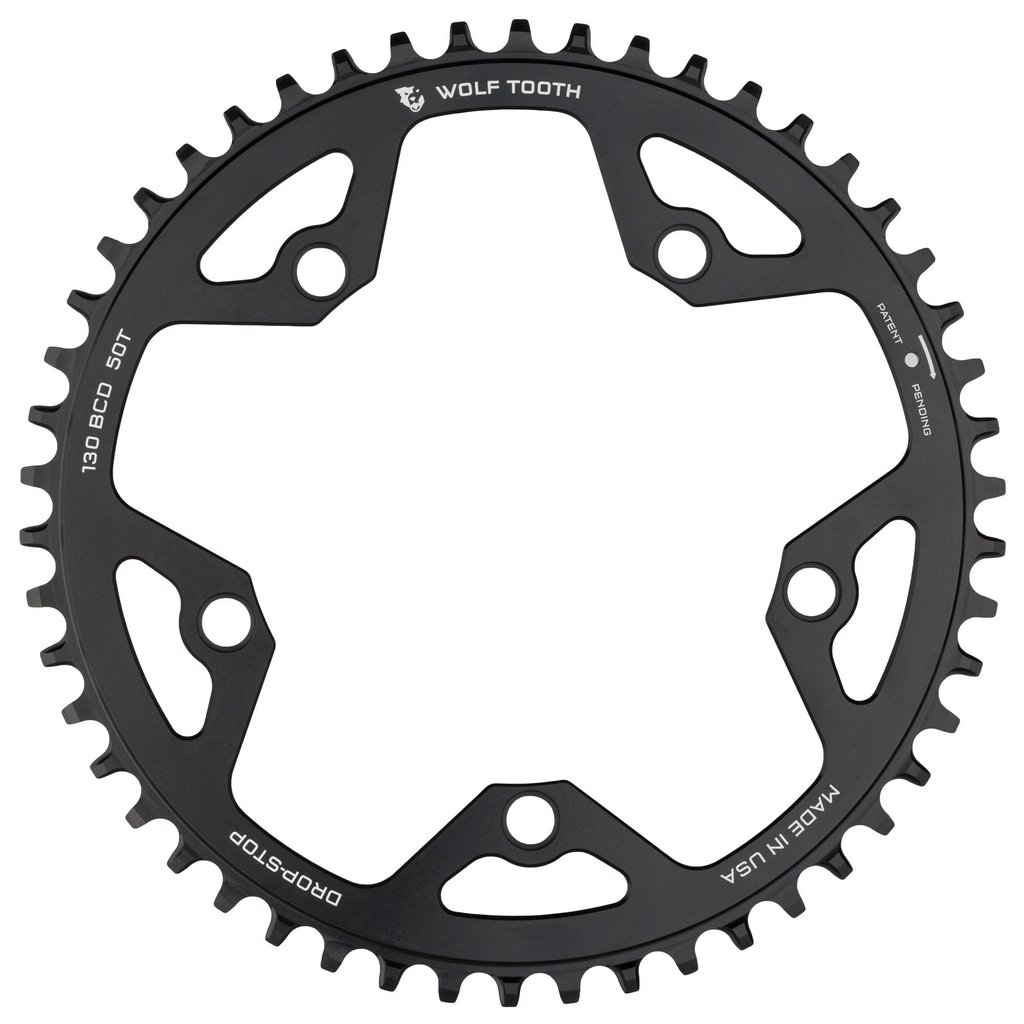 130BCD 5Bolt 48T~52T Drop-Stop Chainring WolfTooth チェーンリング