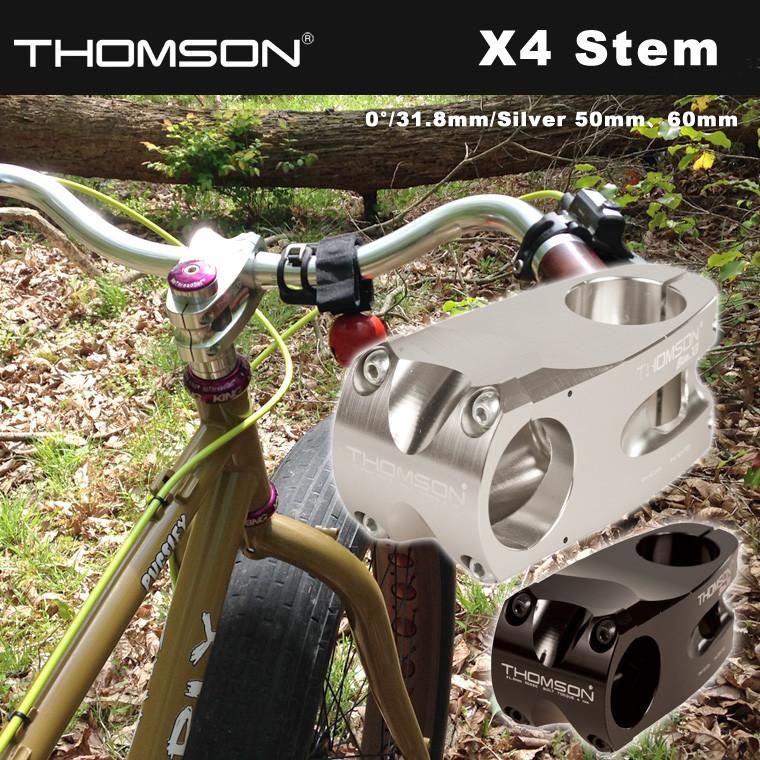 X4 Stem 0° 31.8mm Silver 50mm、60mm THOMSON トムソン ピスト シングルスピード 自転車 リアハブ 送料無料