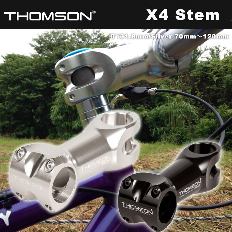 X4 Stem 0° 31.8mm Silver 70mm~120mm THOMSON トムソン ピスト シングルスピード 自転車 リアハブ 送料無料
