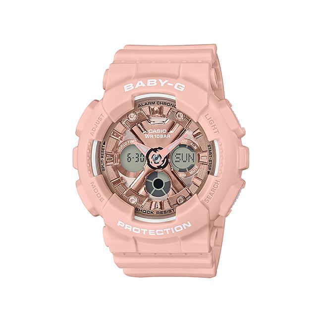 CASIO BABY-G カシオ ベビーG BA-130-4AJF 腕時計 レディース キッズ 子供 女の子 アナデジ 防水 ピンク ピンクゴールド