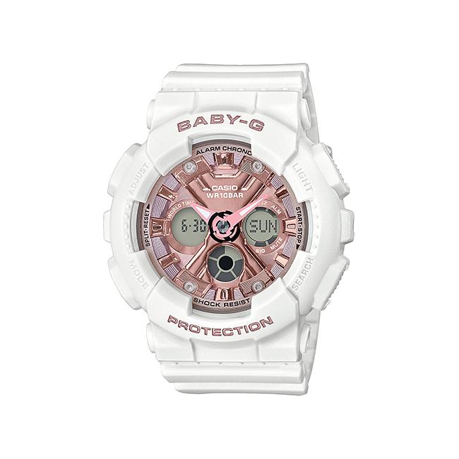 CASIO BABY-G カシオ ベビーG BA-130-7A1JF 腕時計 レディース キッズ 子供 女の子 アナデジ 防水 ホワイト 白 ローズゴールド