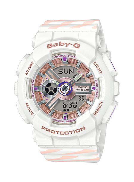 CASIO BABY-G カシオ ベビーG BA-110CH-7AJF 腕時計 レディース キッズ 子供 女の子 アナデジ 防水 ホワイト 白 ピンク PUNTO IT DESIGN