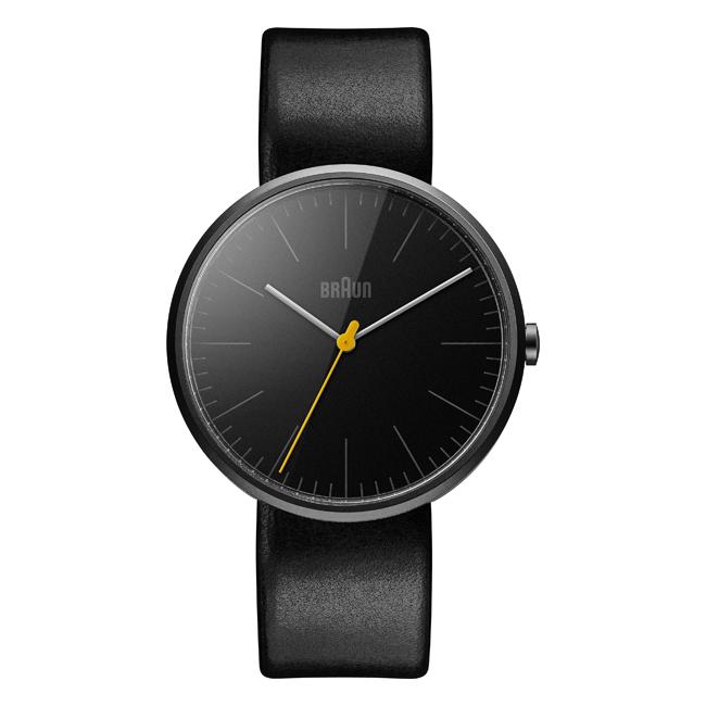 【日本未発売】BRAUN ブラウン アナログ メンズ BN0172BKBKG 腕時計 レディース シルバー ブラック 黒 レザー 革ベルト 海外モデル