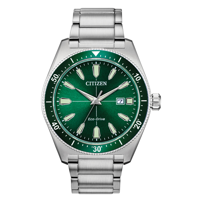 【10年保証】【日本未発売】CITIZEN シチズン エコドライブ ブライセン AW1598-70X 腕時計 メンズ 逆輸入 アナログ ソーラー グリーン 緑 シルバー 海外モデル