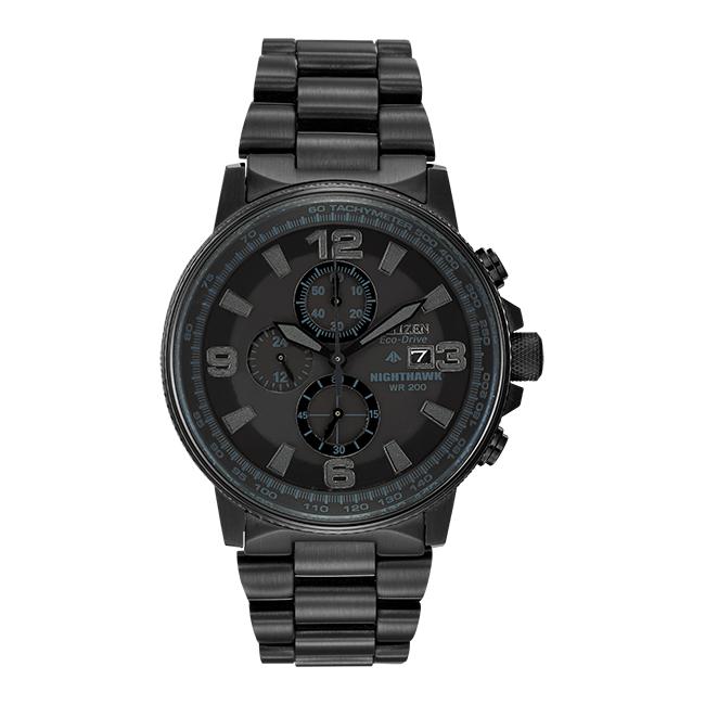 【10年保証】CITIZEN シチズン プロマスター エコドライブ ナイトホーク CA0295-58E 腕時計 メンズ 逆輸入 クロノグラフ アナログ ソーラー ブラック 黒 海外モデル