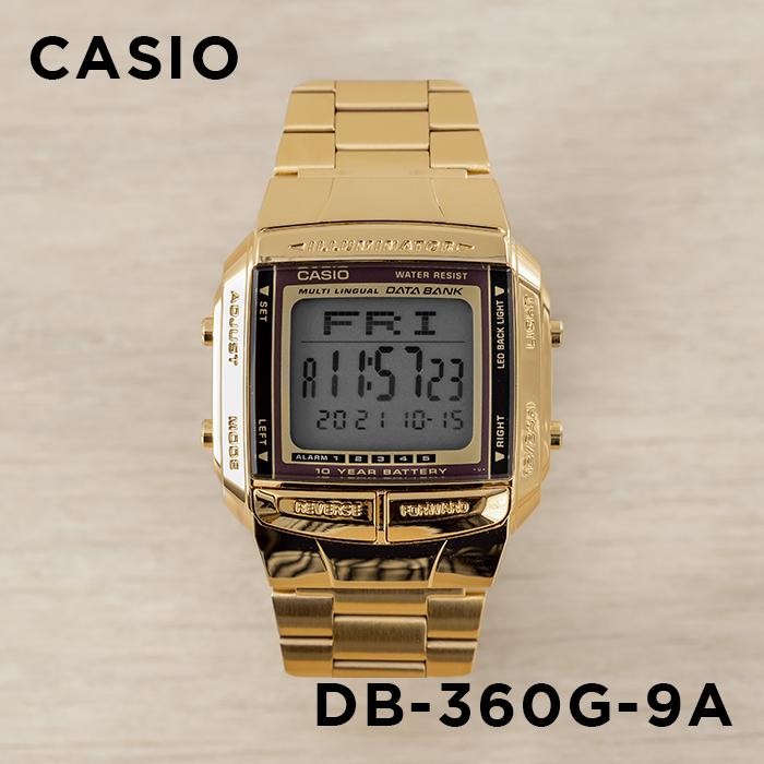 391e65b107 CASIODATABANKカシオデータバンクDB-360G-9A腕時計メンズレディースデジタルゴールド金ブラック